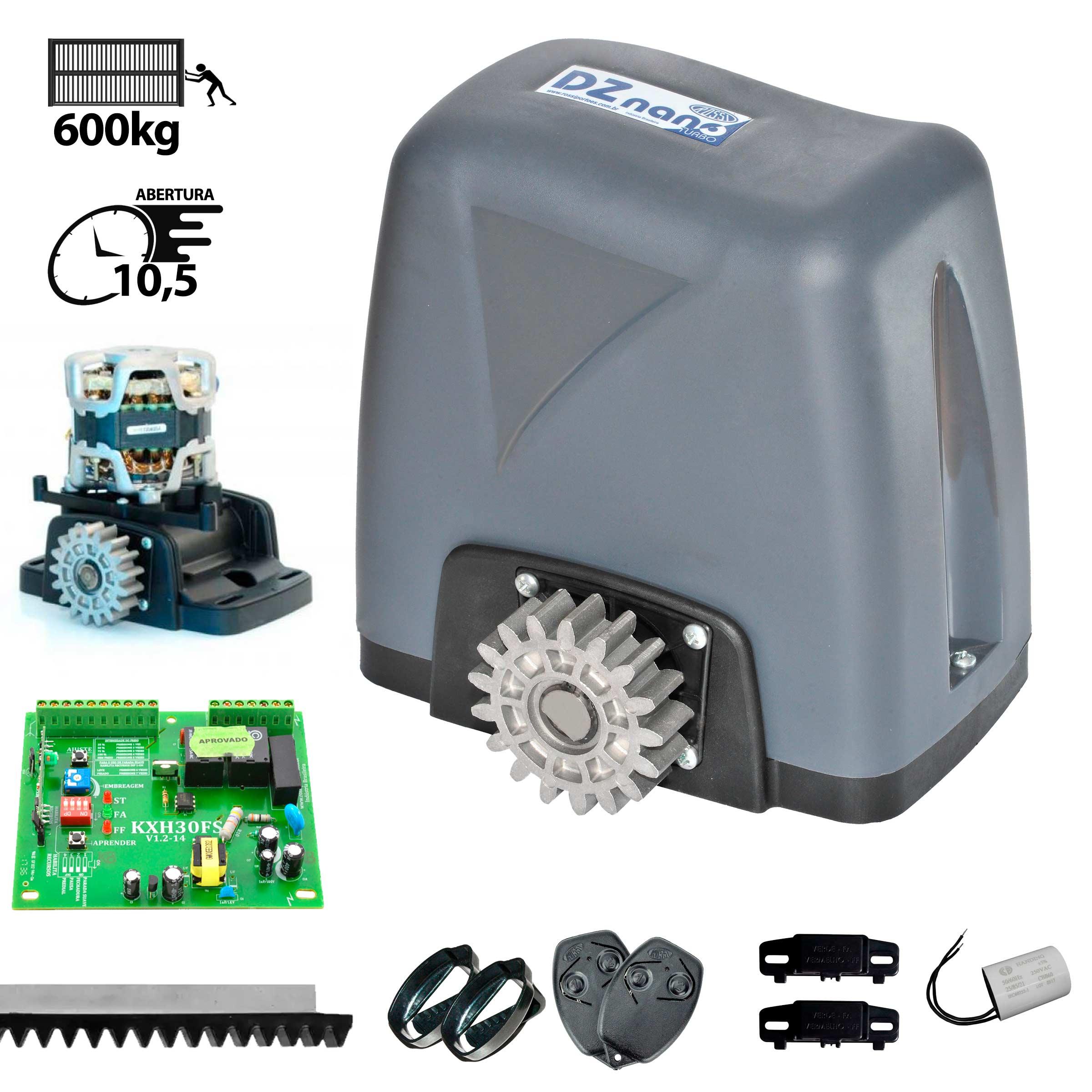 kit-motor-portao-ppa-dz-home-300kg-1/4-deslizante-automatico-de-correr-eletronico-com-abertura-rapida