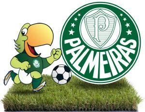 Mascote Periquito e Escudo do Palmeiras
