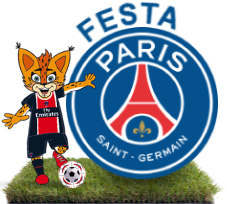 Mascote e Escudo do Paris Saint-Germain