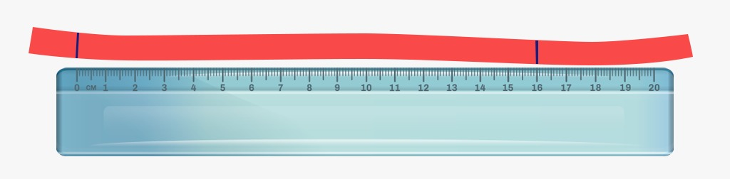 medindo fita com a régua