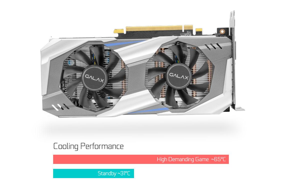 PLACA DE VIDEO GEFORCE 6GB DDR5 192 BITS DVI/HDMI/DP VERMELHA 60NRH7DSN5E6 - MARCA:GALAX - MODELO:GTX 1060 OC