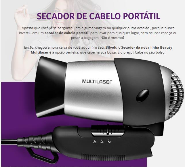 eb01_01  eb01_01 Secador de Cabelo Beauty Bivolt Multilaser - EB01 -