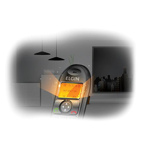 DISPLAY ILUMINADO - Permite uma perfeita visualização dos números identificados ou discados mesmo em ambientes escuros. Disponível em todos os telefones sem fio.