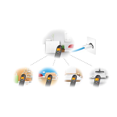 RAMAIS SIMULTÂNEOS - Com os Telefones Elgin, é possível adicionar simultâneos ramais à mesma base. Não requer fios de extensão telefônica. Disponível em todos os telefones sem fio