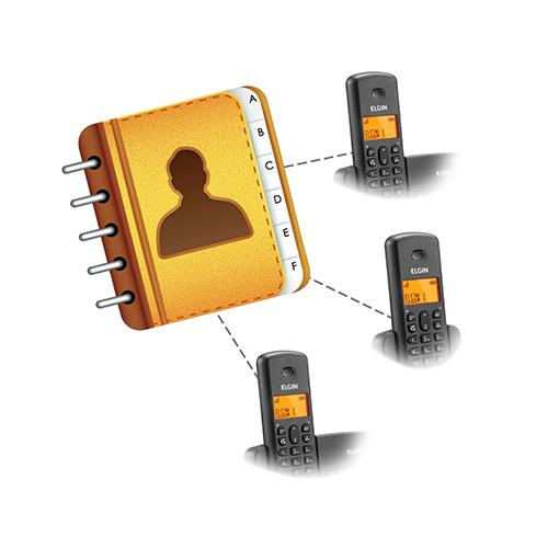 AGENDA COMPARTILHADA - Maior praticidade para organizar seus contatos. Os contatos adicionados em um monofone, ficam disponíveis para todos os outros monofones. Disponível nas famílias TSF8000 e TSF 800SE.