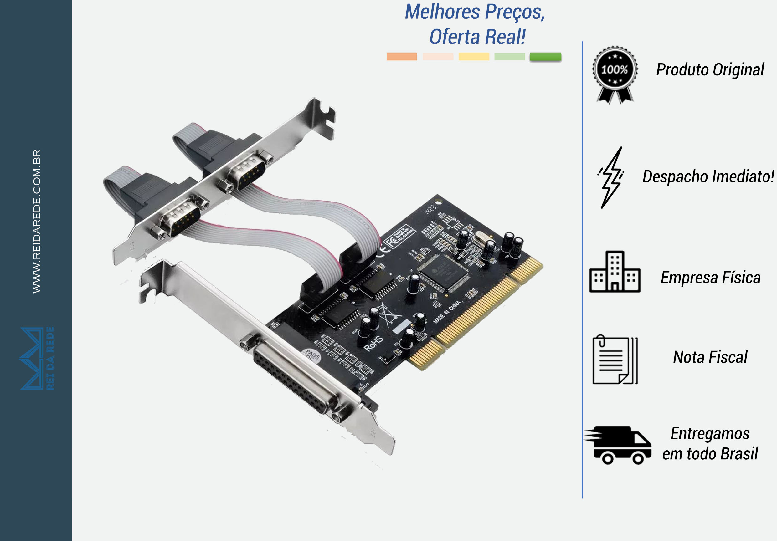 Placa Controladora PCI Multiserial 2 Serial 1 Paralela GA129