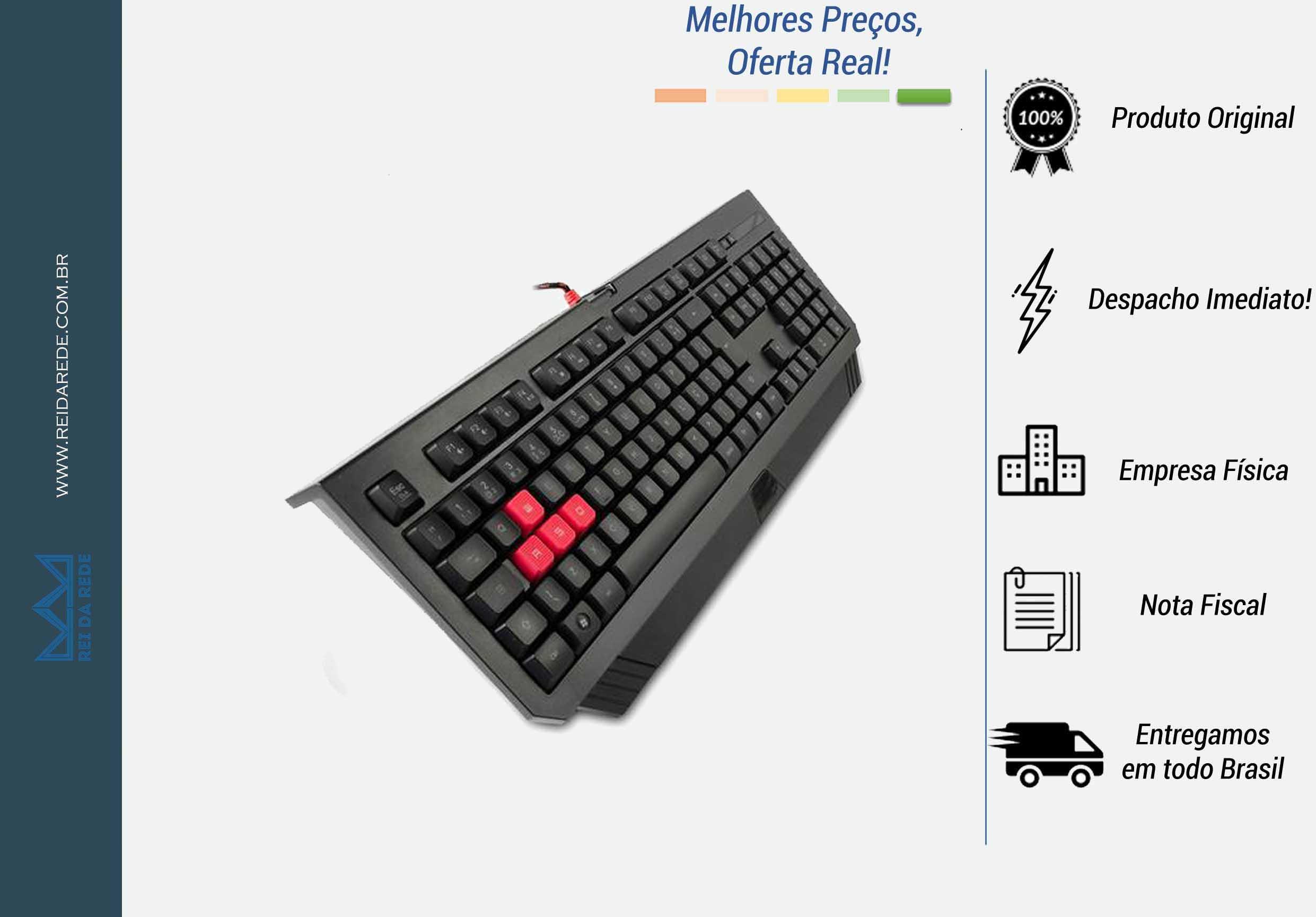 TECLADO USB GAME BLOODY TURBO TECLAS ANTI-GHOST B120 PRETO A4T