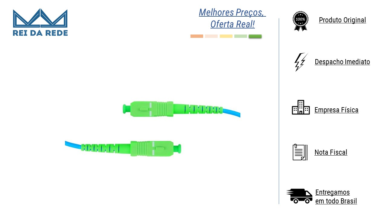 Cordão Óptico Simplex SC-APC/SC-APC 2,5 M SM Monomodo NAZDA