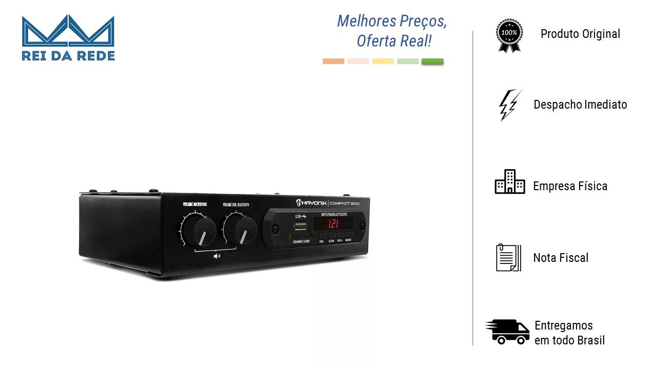 Amplificador Receiver 20w Compact 200 Hayonik