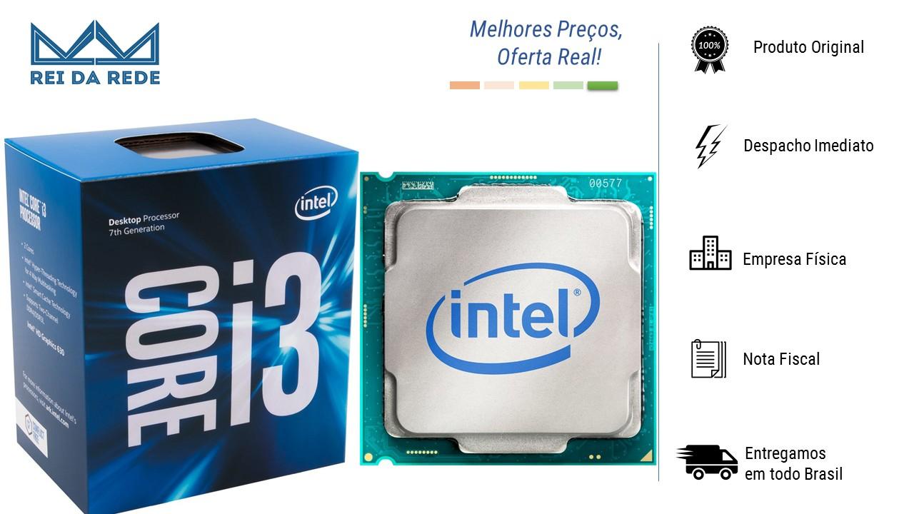 Processador Intel Core I3-7100 Kaby Lake 7A Geração Cache 3MB 3.9GHZ LGA 1151 Intel HD Graphics BX80677I37100