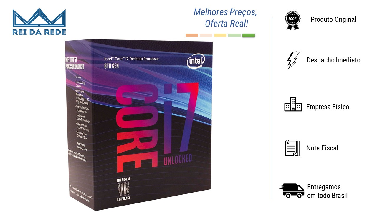 PROCESSADOR INTEL CORE I7-8700K LGA 1151 3.7GHZ 12MB CACHE - BX80684I78700K