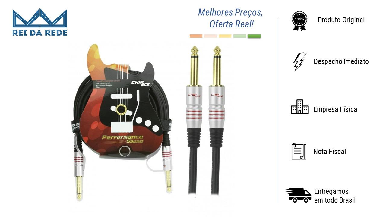 CABO P10 MONO + P10 MONO PERFORMANCE SOUND 5 METROS - PIX
