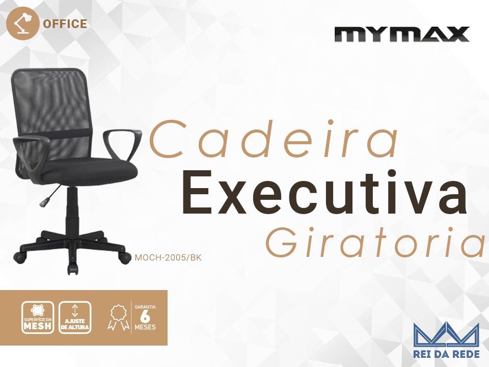 Cadeira Executiva Giratória Preta MYMAX