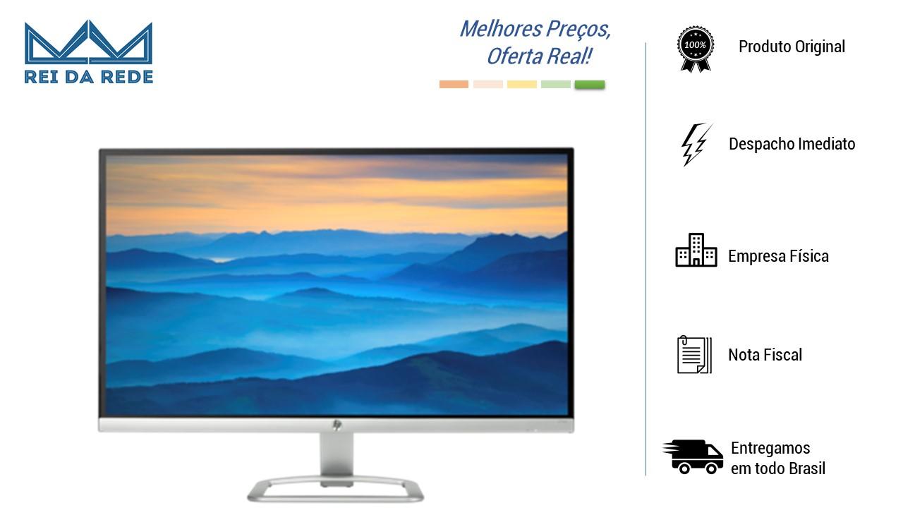 "Monitor HP Led 27"" 27ES T3M86AA Preto/Prata WIDESCREEN OPEN"