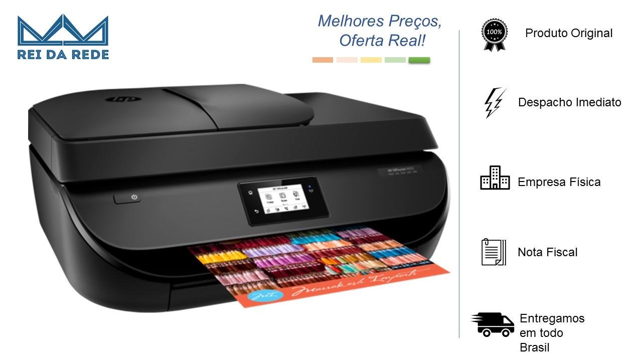 IMPRESSORA MULTIFUNCIONAL HP OFFICEJET 4650 BLACK (COPIADORA/SCANNER/WIFI/FAX) JATO TINTA - IMPORTADA