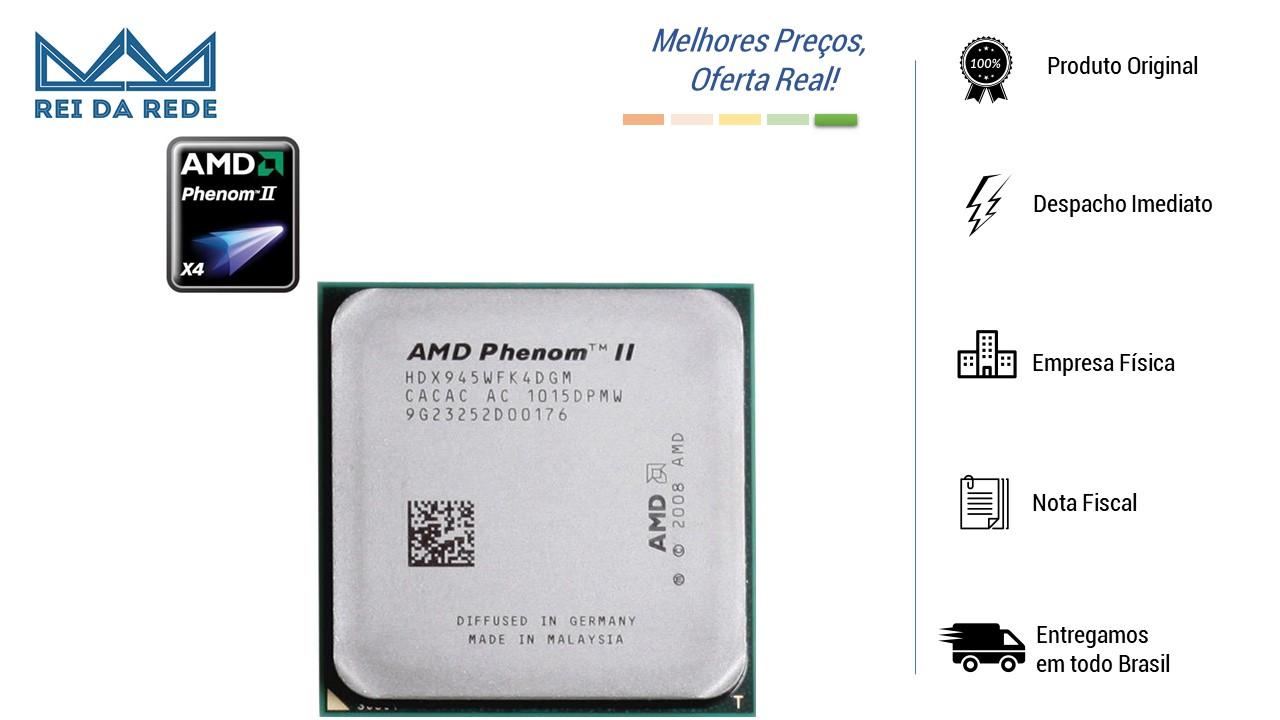 PROCESSADOR AMD AM3 PHENOM II X4 945 3.0GHZ (95W) OEM