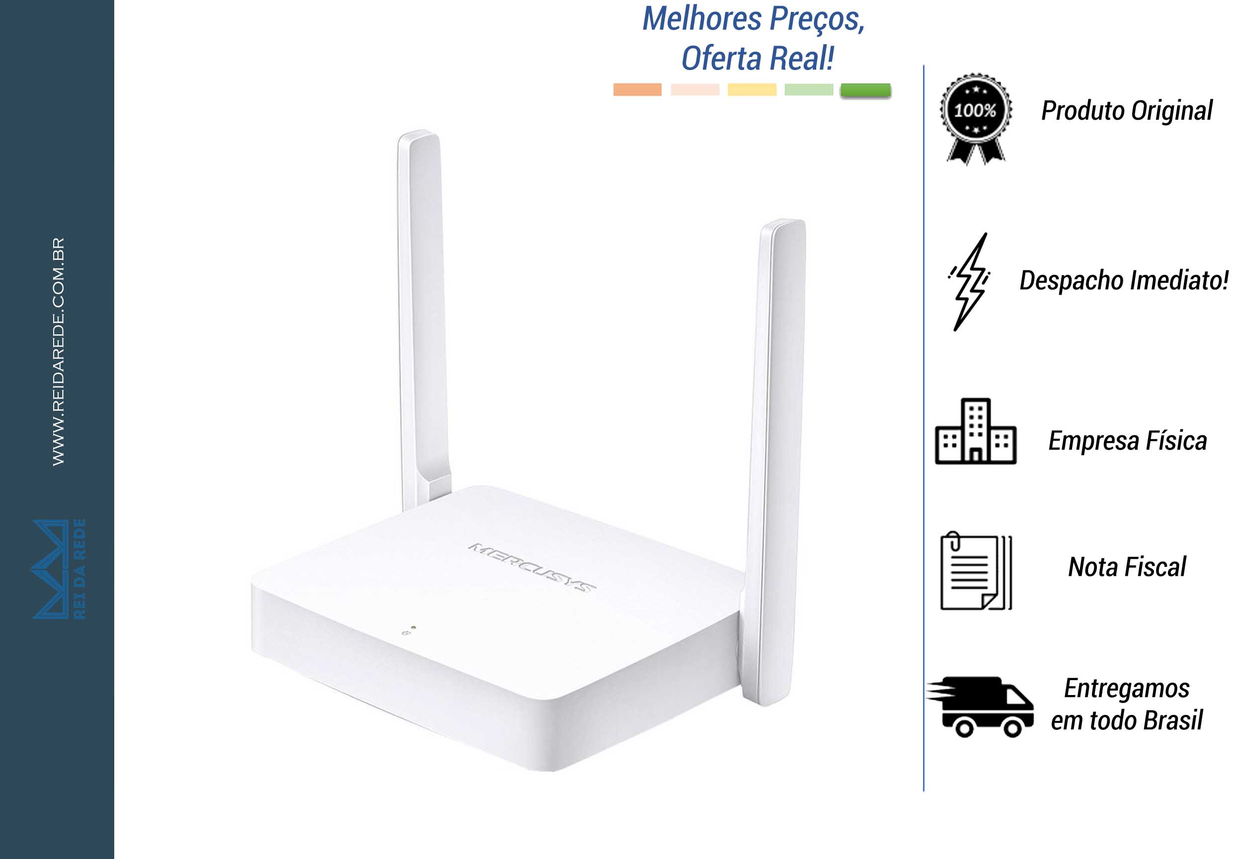 ROTEADOR MERCUSYS MW301R IPV6 300MBPS, 2 ANTENAS FIXAS BY TP-LINK