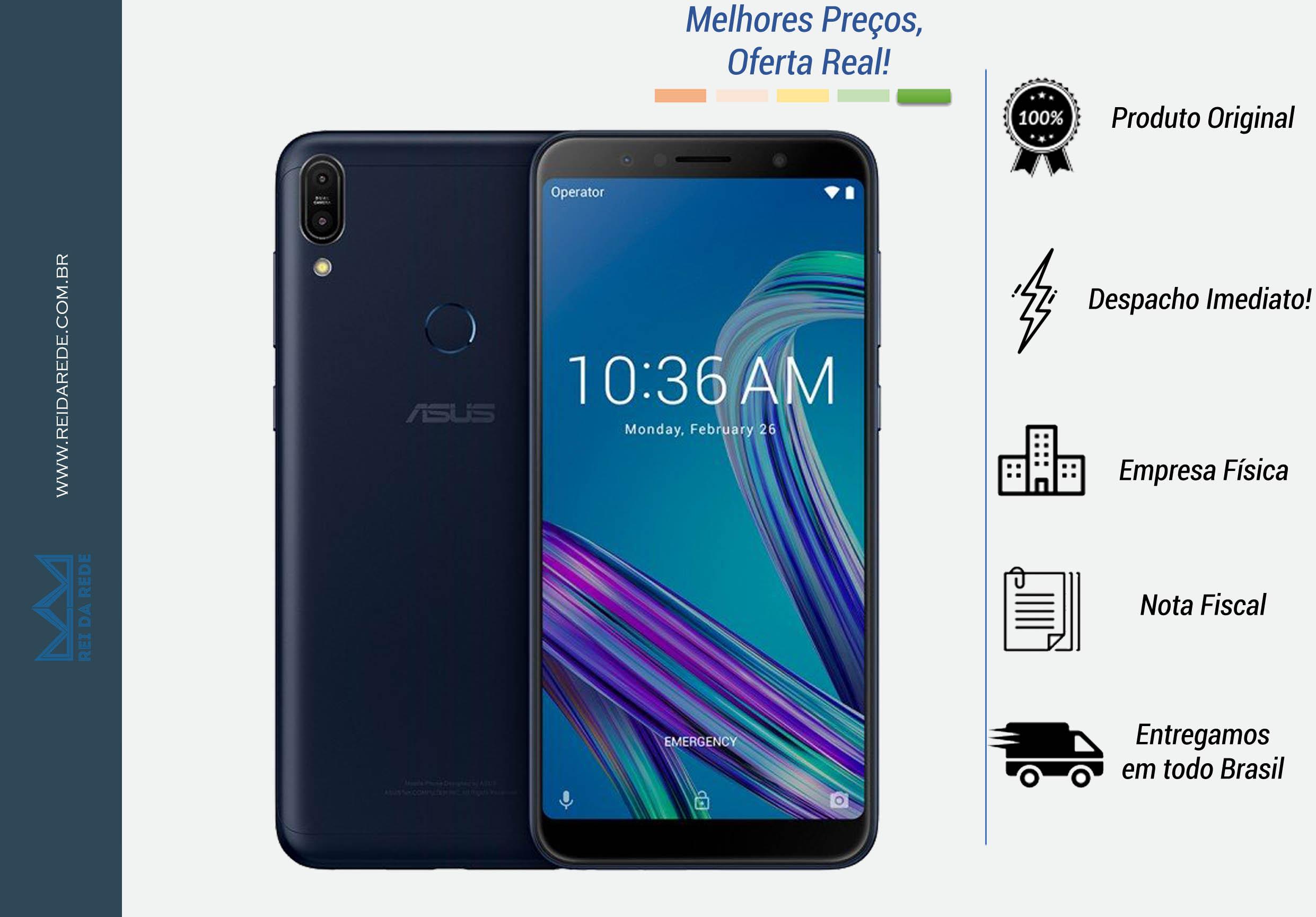 "SMARTPHONE ZENFONE MAX PRO M1 64GB QUALCOMM SDM636, TELA 6"", 4G, 64 GB CÂMERA DUAL 16MP + 5MP PRATA ZB602KL-4H137BR MARCA: ASUS - MODELO: ZENFONE MAX PRO M1 64GB"