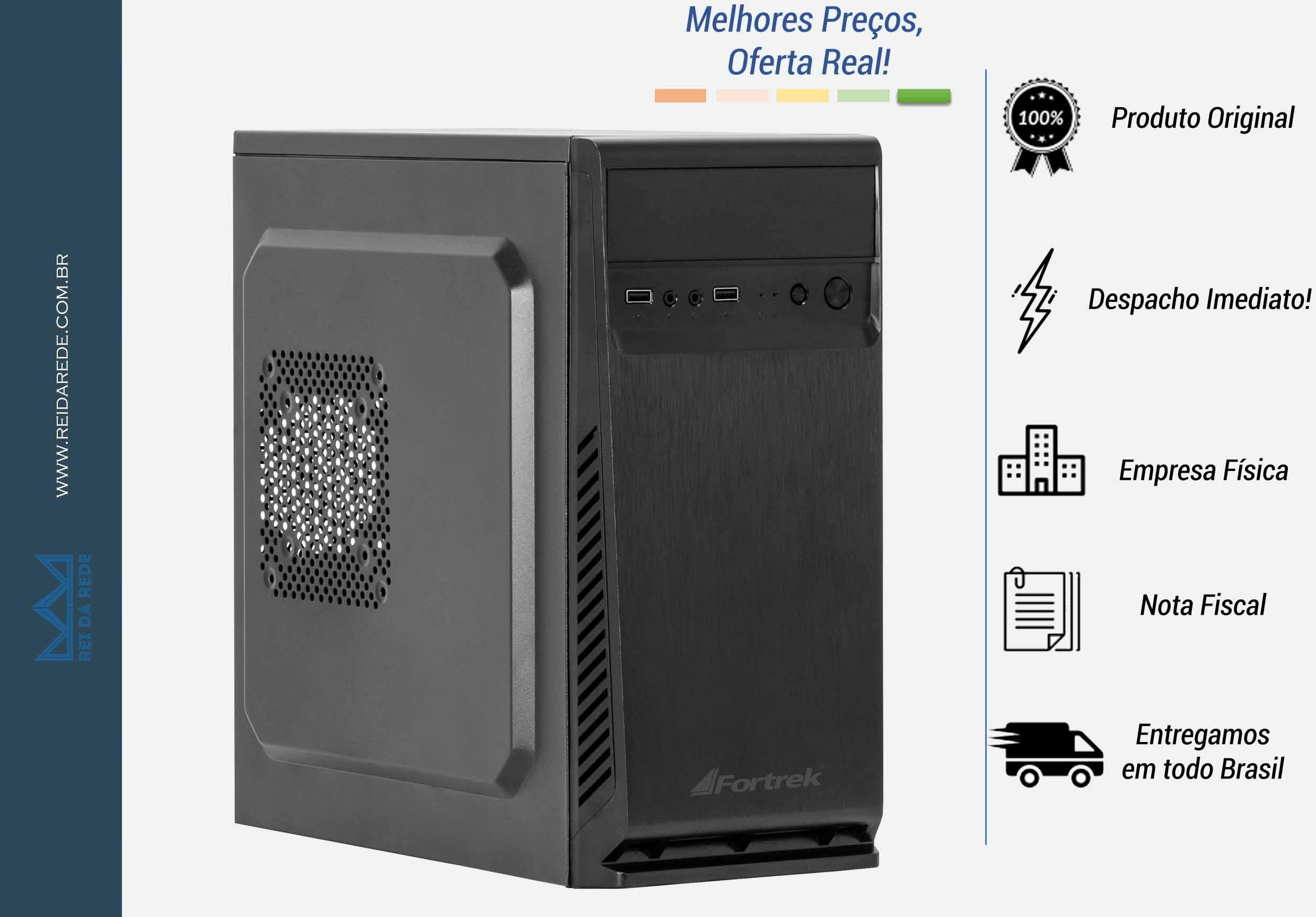 GABINETE ATX FORTREK SC501BK PRETO SEM FONTE - MARCA: FORTREK - MODELO: SC501BK