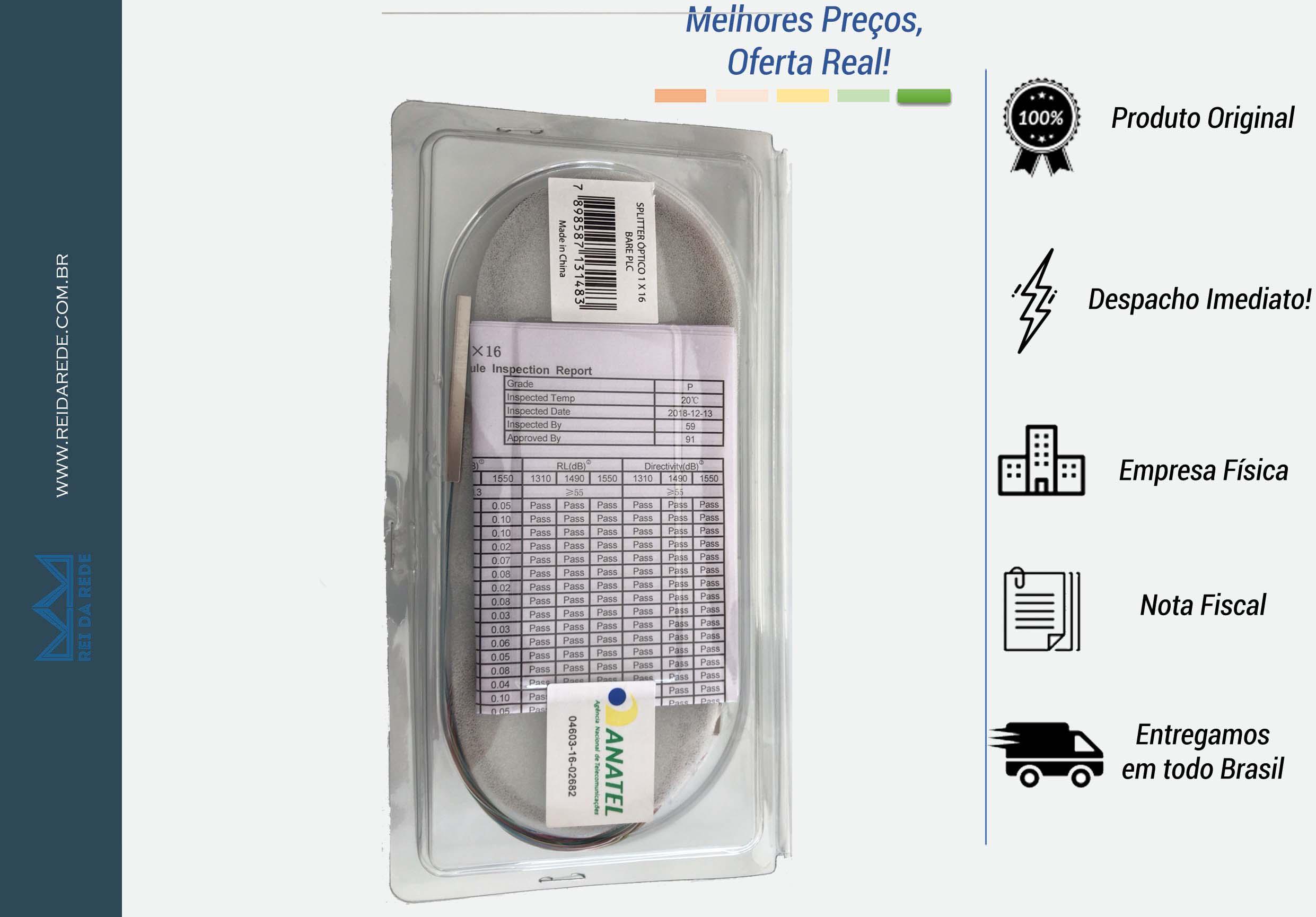 SPLITTER ÓPTICO 1 X 16 BARE PLC NAZDA - MARCA: NAZDA - MODELO: 1 X 16 BARE PLC