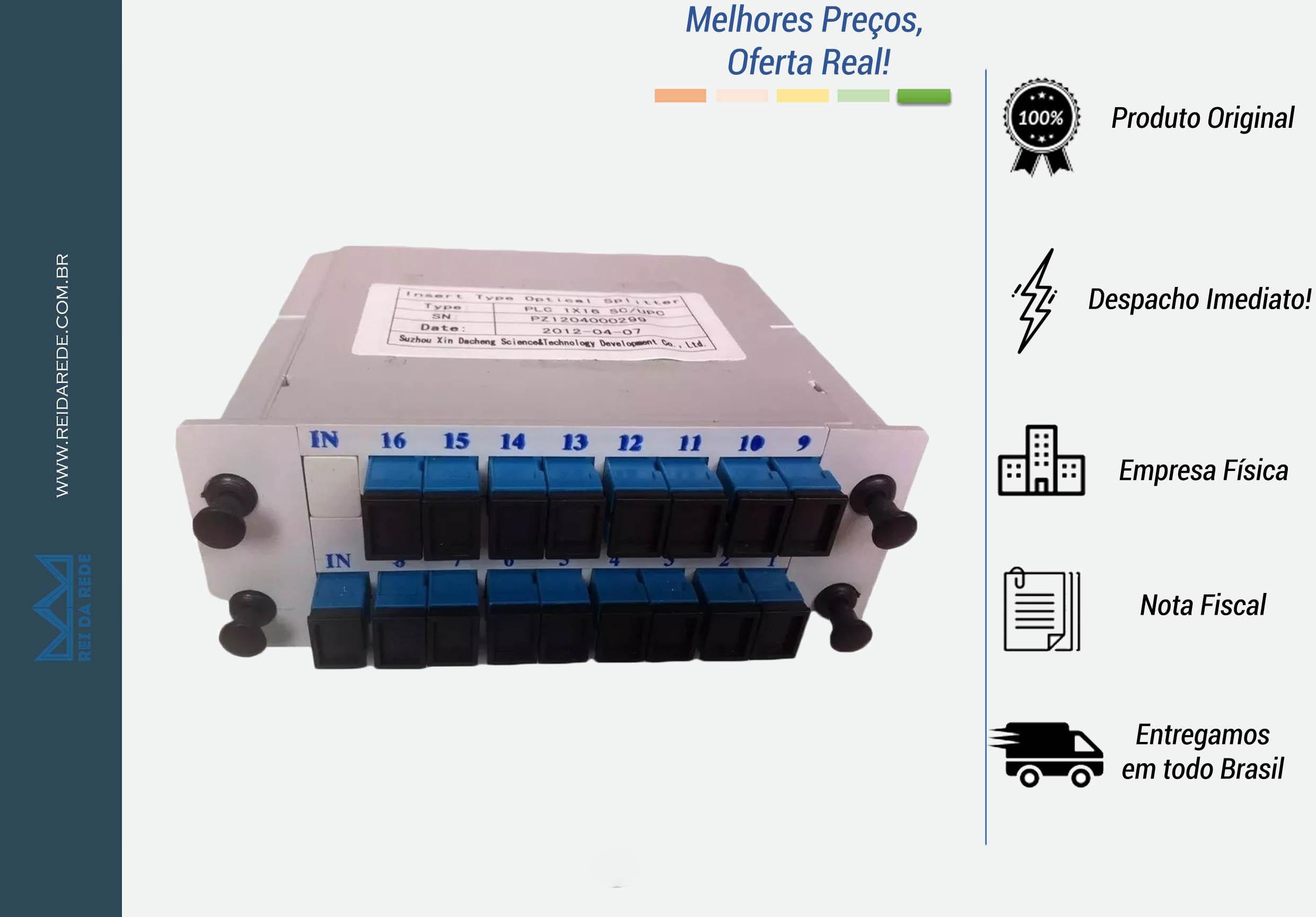 SPLITTER ÓPTICO 1X16 SC/UPC LGX SPL116BU O-TECH BOX - MARCA: O-TECH- MODELO: SC/UPC