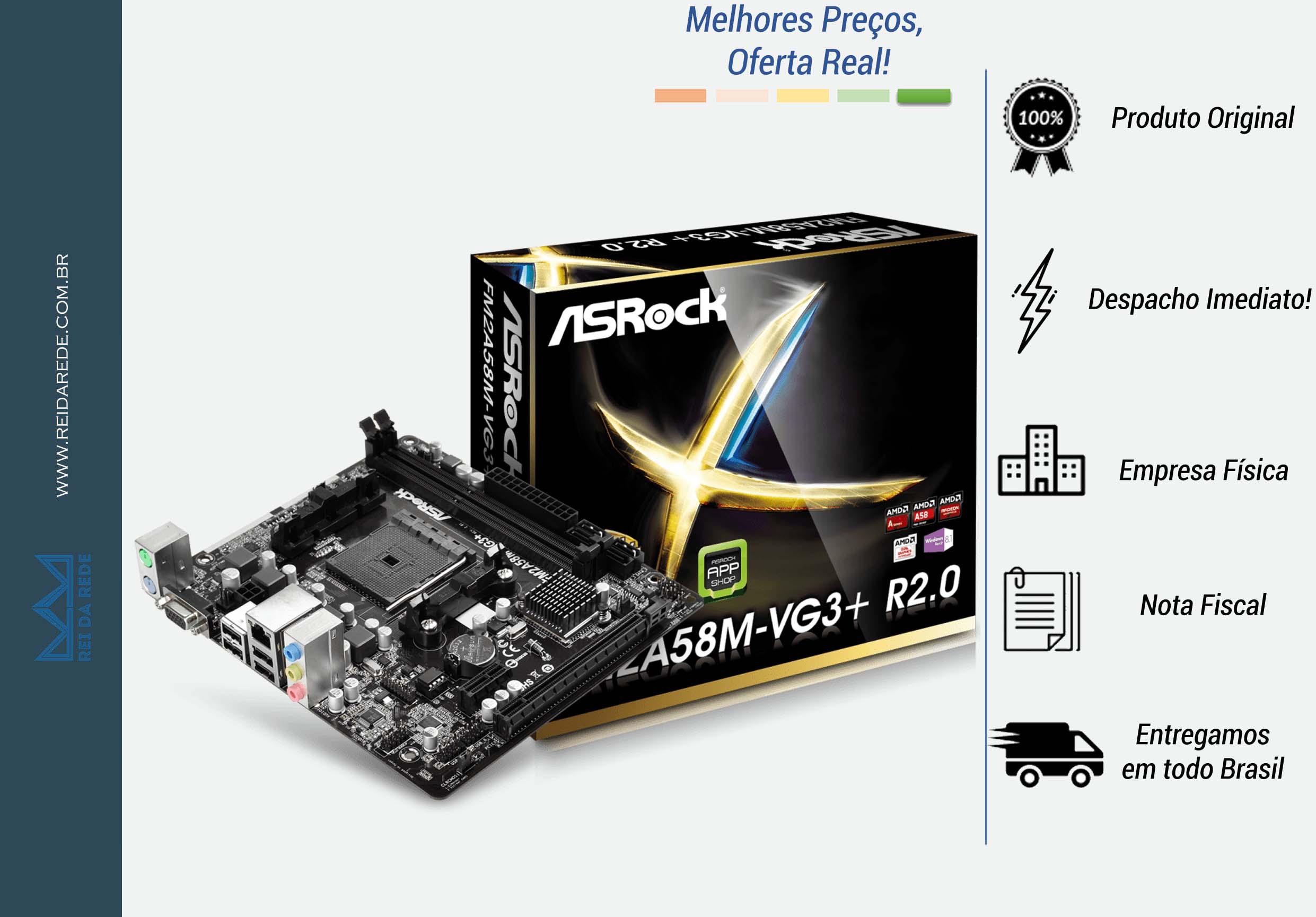 PLACA MAE ASROCK FM2 FM2A58M-VG3+ R2.0 BOX