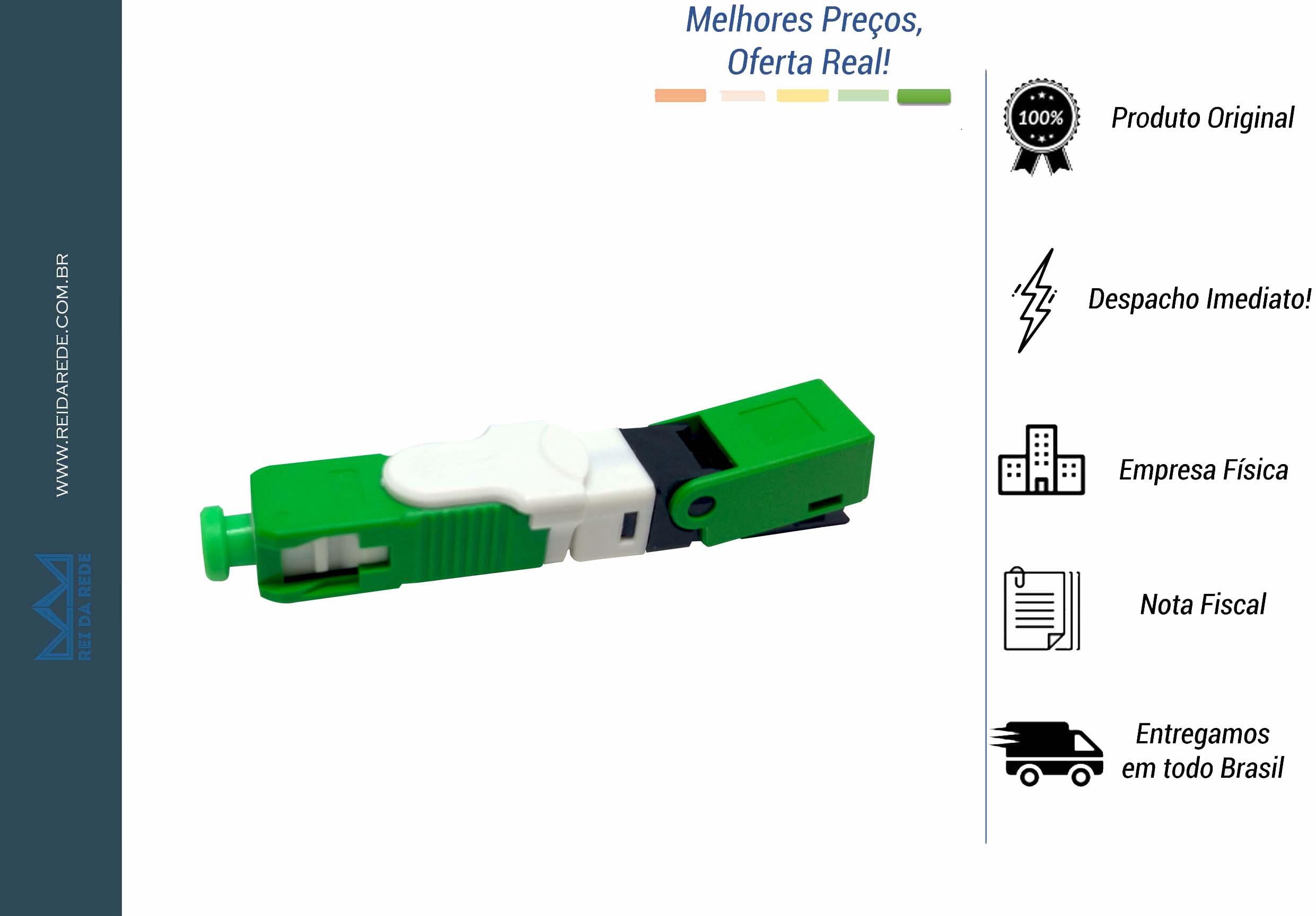 CONECTOR FAST RAPIDO SC/APC SM CLICK HOEA2158 O-TECH - MARCA:O-TECH - MODELO:HOEA2158