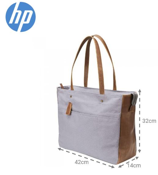 "Bolsa feminina para Notebook 14"" canvas tote cinza HP"