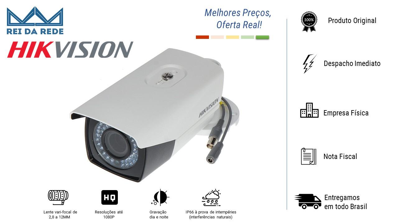 CÂMERA BULLET 2.0 MEGAPIXEL HD 1080P 20MTS LENTE 2.8MM DS-2CE16D1T-VFIR3 - HIKVISION