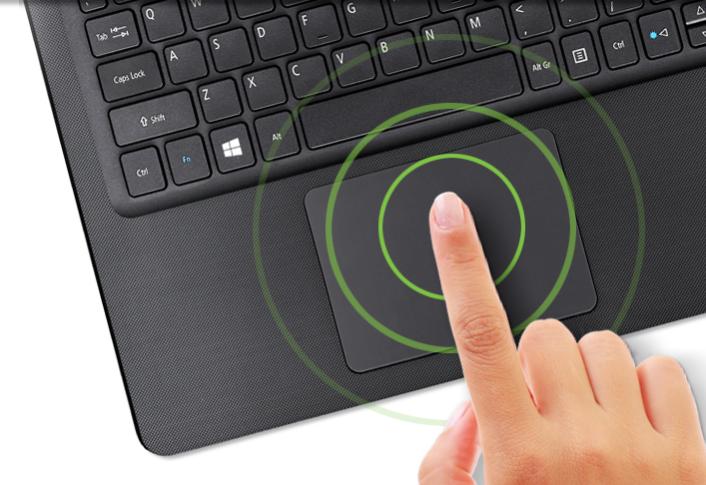 Uma navegação mais intuitiva. A sua experiência fica mais inteligente e intuitiva com o touchpad multitoque dos notebooks Aspire E. Crie documentos, navegue na web e faça tudo o que você precisa com muito mais praticidade.