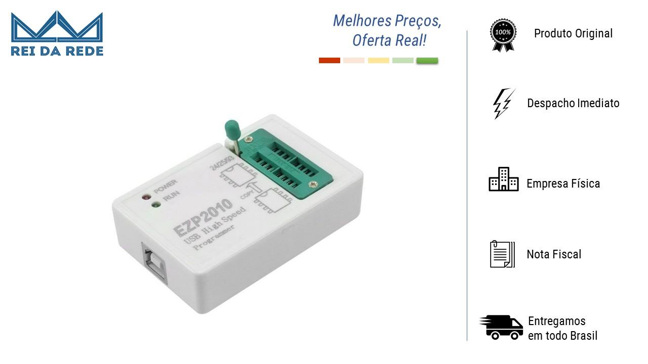 GRAVADOR E PROGRAMADOR DE EPROM FLASH BIOS EZP2010 USB 24 - 25 - 93