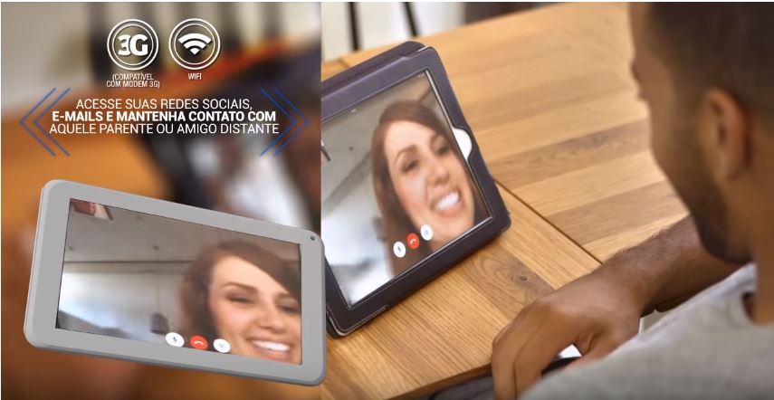 Tablet M7s - recurso de videos chamada