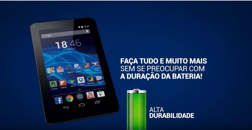 Tablet M7s Muito mais bateria