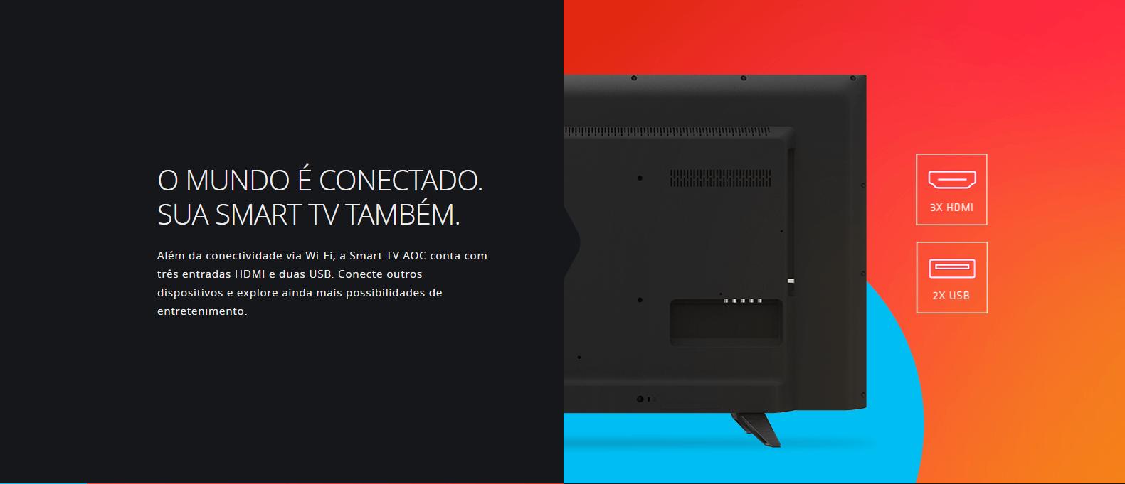 "TV 43"" SMART LCD LED FULL HD, 3 HDMI, 2 USB LE43S5970 - AOC"