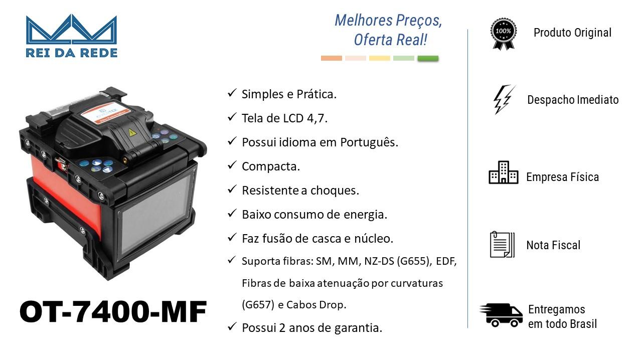 MAQUINA DE FUSÃO DE FIBRA OPTICA OT-7400 OVERTEK