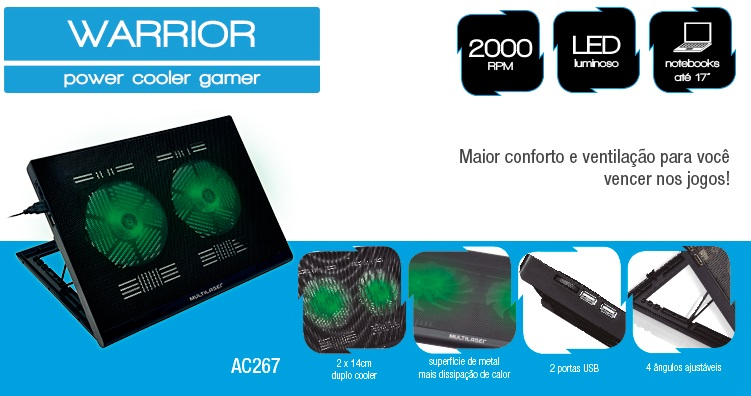Base Cooler Gamer Multilaser