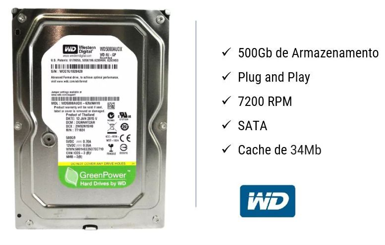wd hd 500gb wester digital