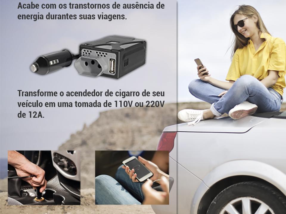 Inversor de Potência Veicular 150W/110V AU900 MULTILASER