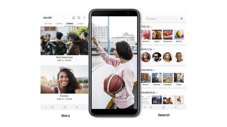 Crie histórias com suas fotos Edite suas fotos e vídeos para criar sua própria história personalizada e organize-os por tema. Você pode categorizar facilmente seu conteúdo graças às funções otimizadas.
