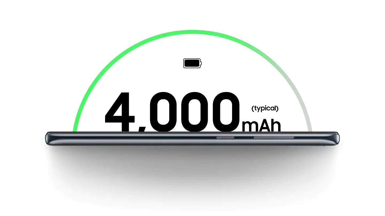 Recarregue e vá mais longe Com uma bateria de 4.000mAh pronta para durar o dia todo, você aproveita ao máximo cada momento. E não precisa se preocupar em recarregar - o Galaxy A30 tem carregamento rápido de 15W para que você volte ao que estava fazendo sem perder seu tempo.
