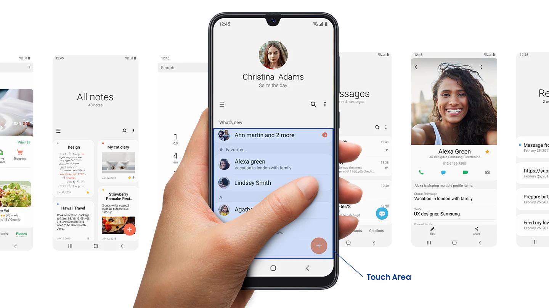 Feito para focar A interface Samsung Experience permite que você se concentre no que realmente importa. Hardware e software trabalhando juntos, com conteúdos e recursos na ponta dos seus dedos para que você acesse tudo rapidamente. O modo Noturno oferece uma experiência confortável no escuro e os recursos visuais claros e intuitivos fazem com que seu telefone mostre a você uma segunda natureza.