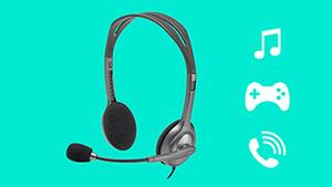HEADPHONE FONE MICROFONE HEADSET LOGITECH H110 ESTEREO P2 PRETO