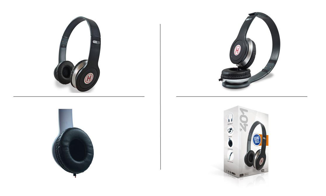 Headphone Preto Hardline