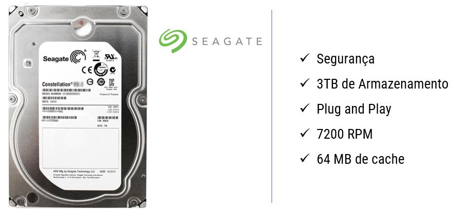 HD Seagete - 3TB
