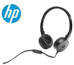 HEADPHONE FONE + MICROFONE HEADSET DOBRÁVEL MARCA: HP - MODELO: H2800 PRETO