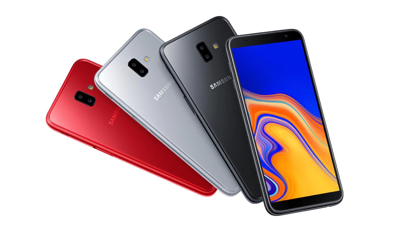 Destaque-se pelo estilo Estilo elegante e confortável ao toque. O Galaxy J6+ conta com design de bordas arredondadas e suaves com boa aderência nas mãos. Ele também tem um acabamento polido especial e várias opções de cores da moda, incluindo vermelho, preto e prata, para oferecer um toque a mais de estilo.