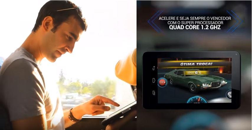 Tablet M7s - Processador Quad Core - Muito mais desempenho.
