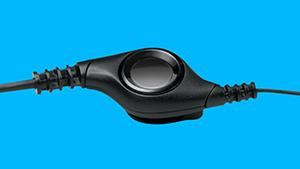 HEADSET USB 2.0 EM COURO COM CONTROLE DE VOLUME PRETO/PRATA MARCA: LOGITECH - MODELO: H390