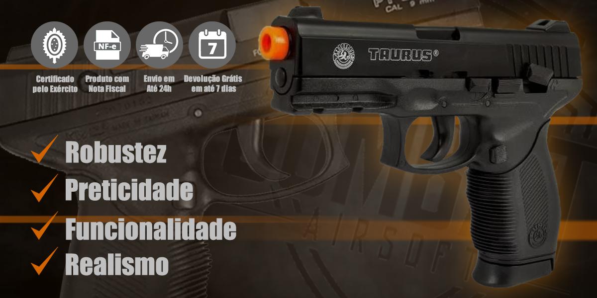 Pistola de Airsoft Spring Taurus PT 24/7 Cybergun
