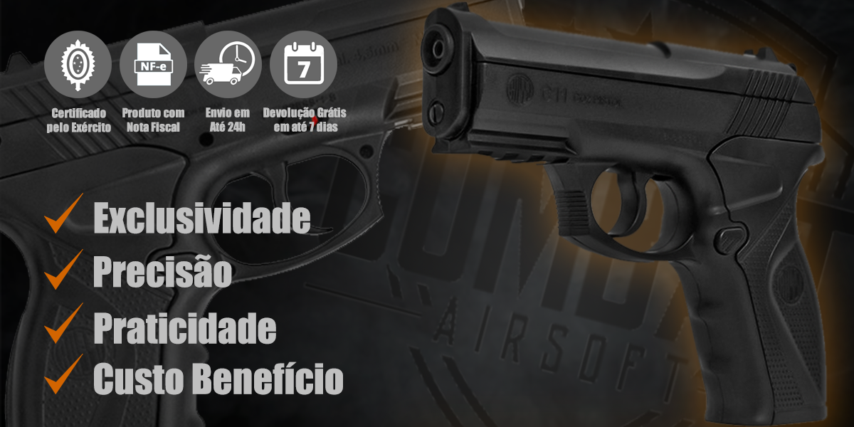 Pistola de Airgun CO2 Wingun C11 Rossi